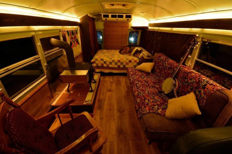 Cozy School Bus Conversion