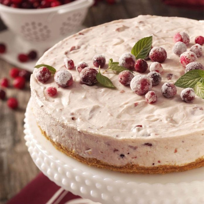 marshmallow cranbrry cheesecake