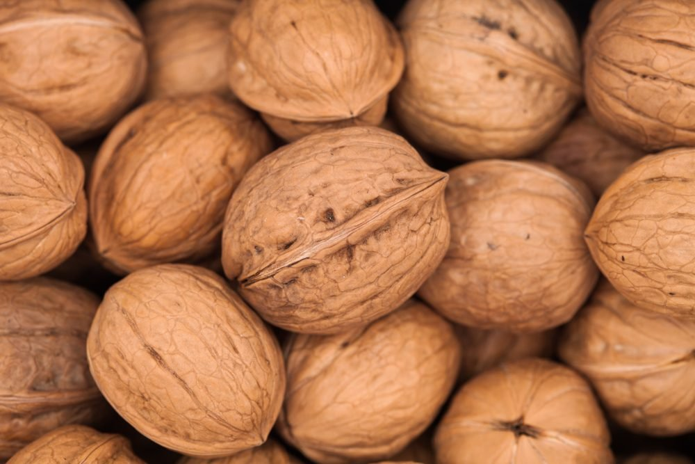 Walnuts background texture