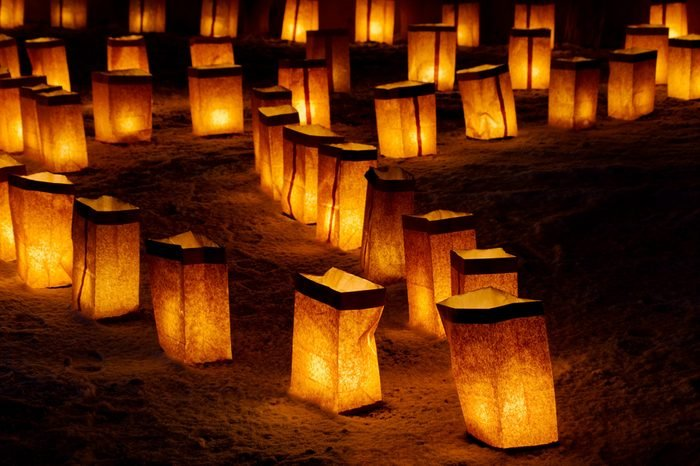 Christmas Eve Luminarias in Santa Fe