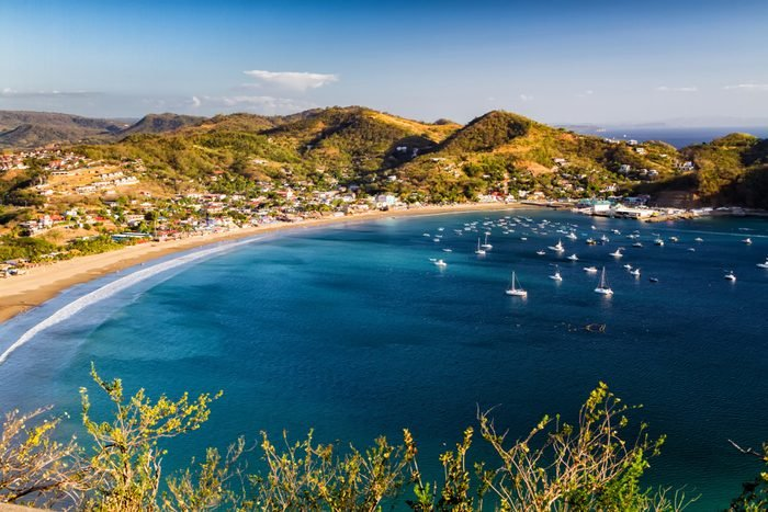View of San Juan del Sur from the local mountain hill, Nicaragua
