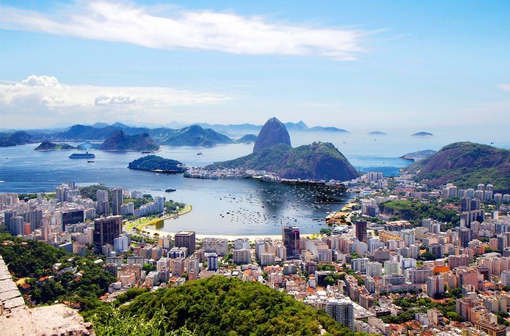 Brazil. Rio de Janeiro. General view of the city. Rio de Janeiro is a splendor of bright colors and a perpetual carnival, the ocean and endless sun.