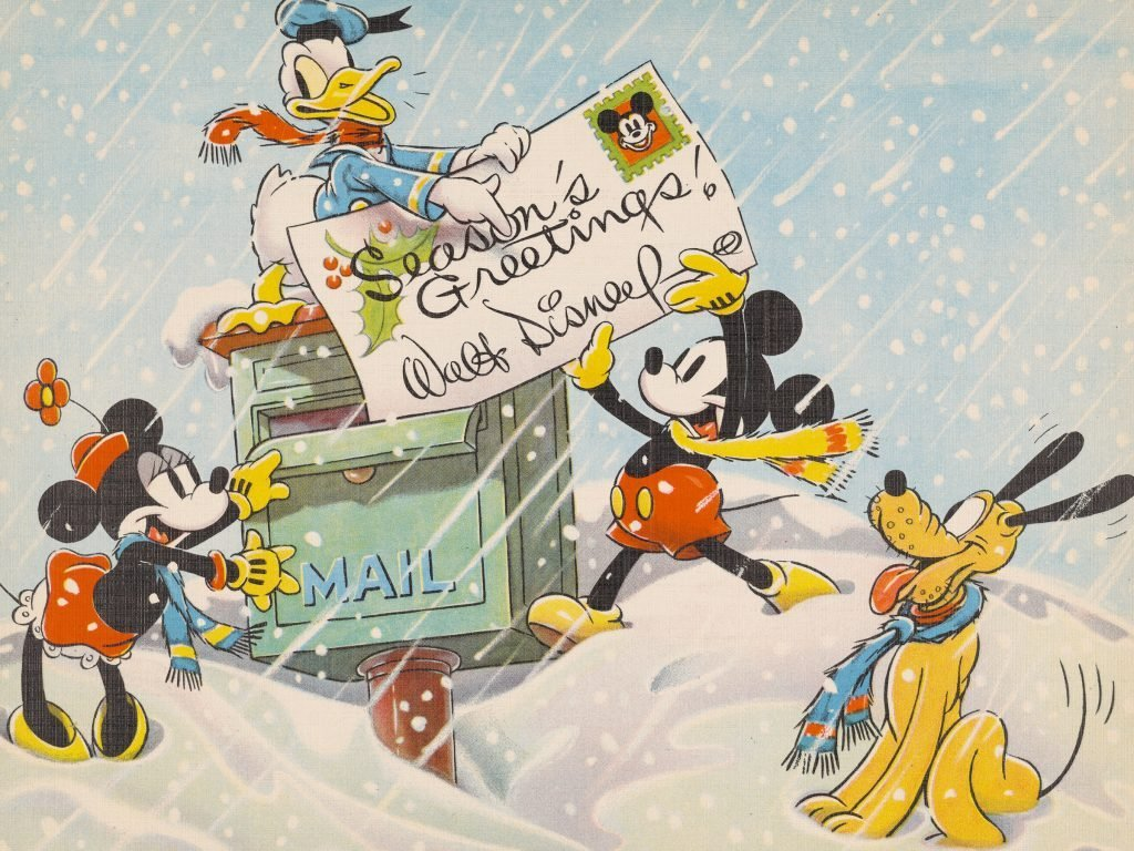 Vintage Disney Christmas Cards From Every Decade Readers Digest