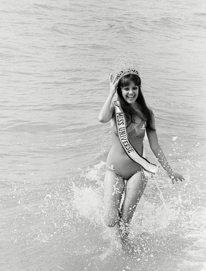 1970 Posing at the beach