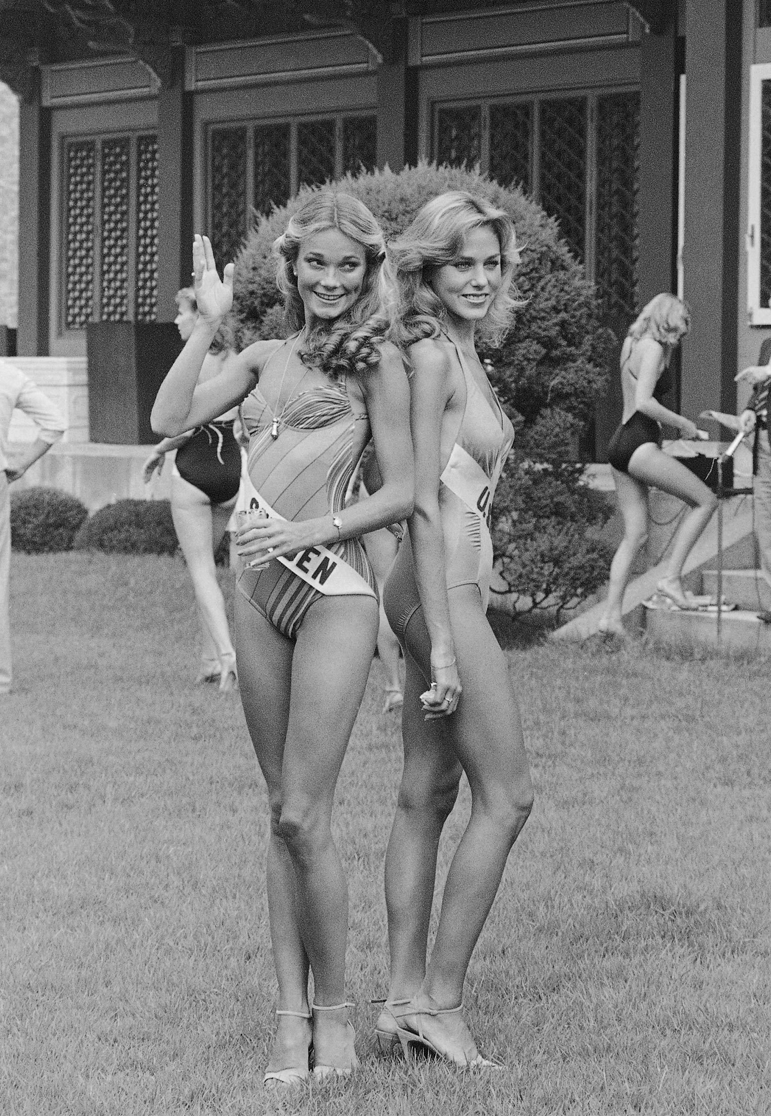 1980 Miss Sweden and Miss U.S.A.