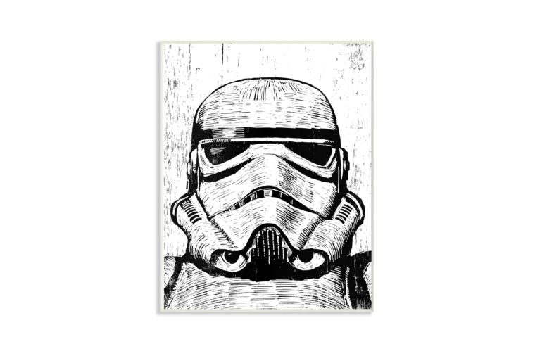 star wars stormtrooper wood decor