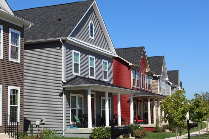 street view of neighborhood houses