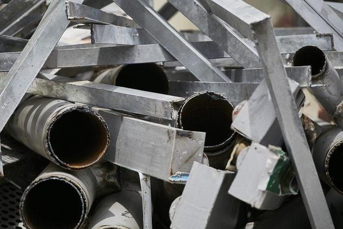 Scrap metal or steel , Scrap of metal or steel ready for recycle