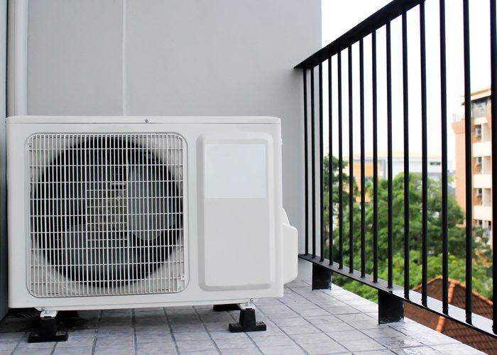 Air conditioner compressor outside unit.