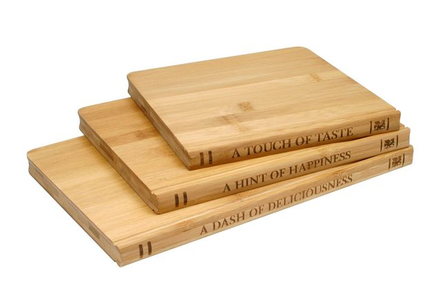Sabatier Library 3 Pack Bamboo Cutting Board Set