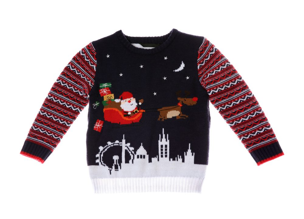 8fd6b907ab Her previous fiancé. Warm Christmas sweater on white background. Seasonal  clothing