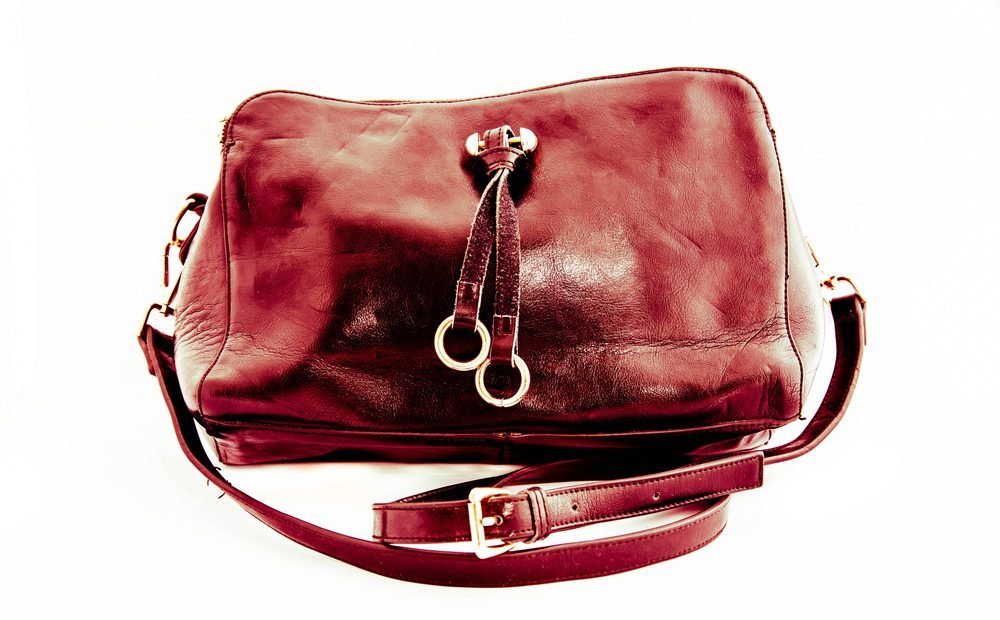 Leather bag,Bag women on white background,Fashion design,Red pink