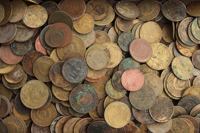 Old coins. Background.