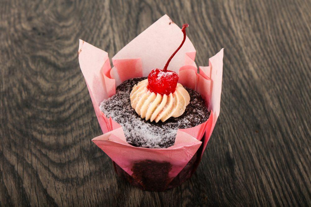 Chocolate Cupcake with cherry
