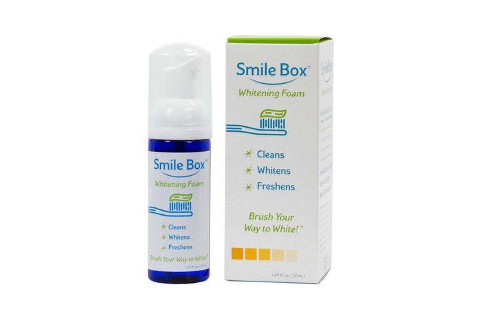 smile box whitening foam