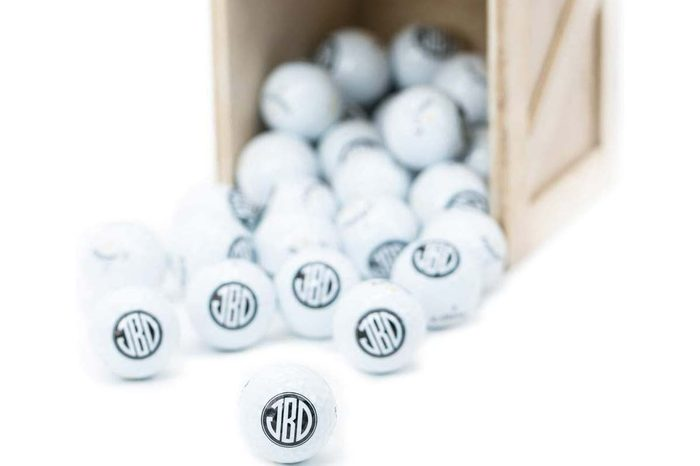 man crate personalized golf balls