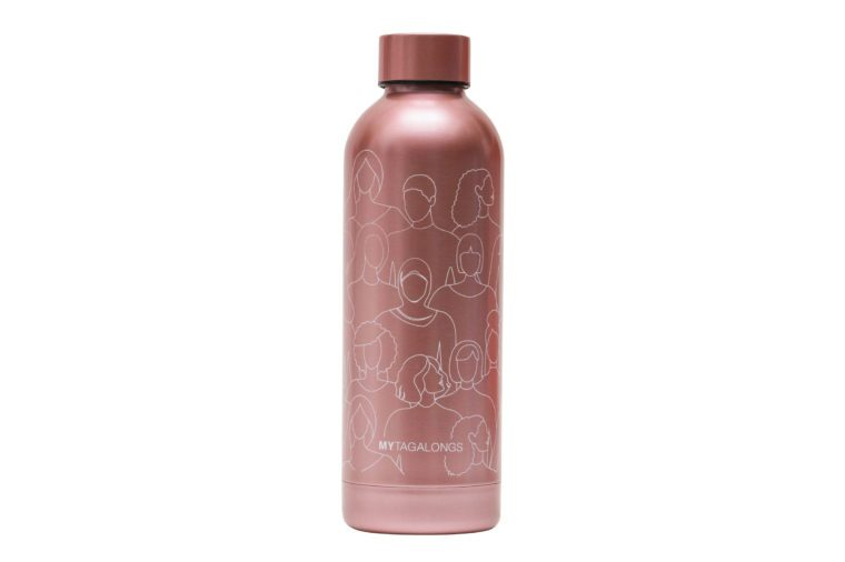 mytagalongs because i am a girl pink water bottle