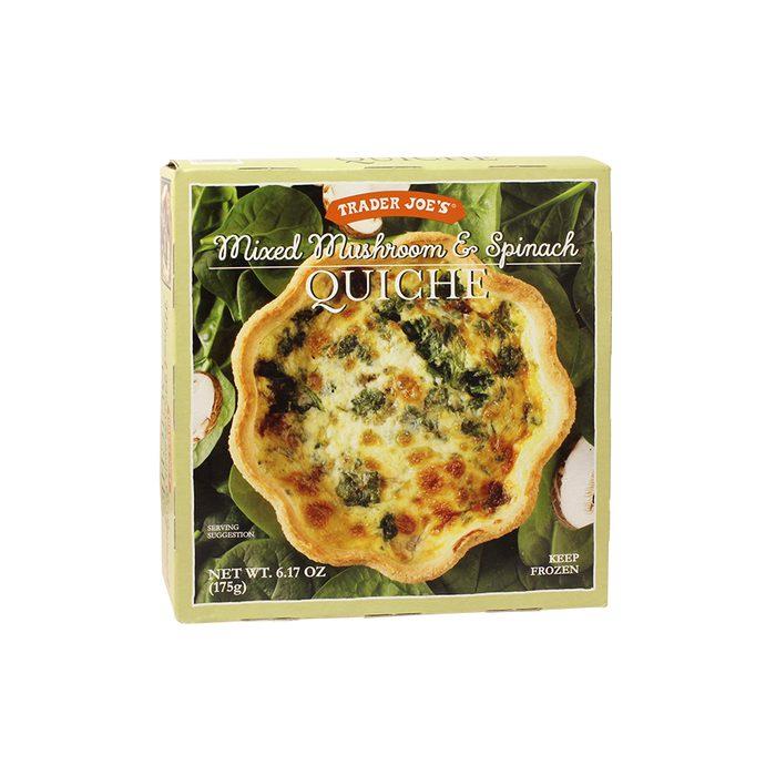 Mixed Mushroom Spinach Quiche