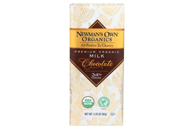 newman's own organic chocolate bar