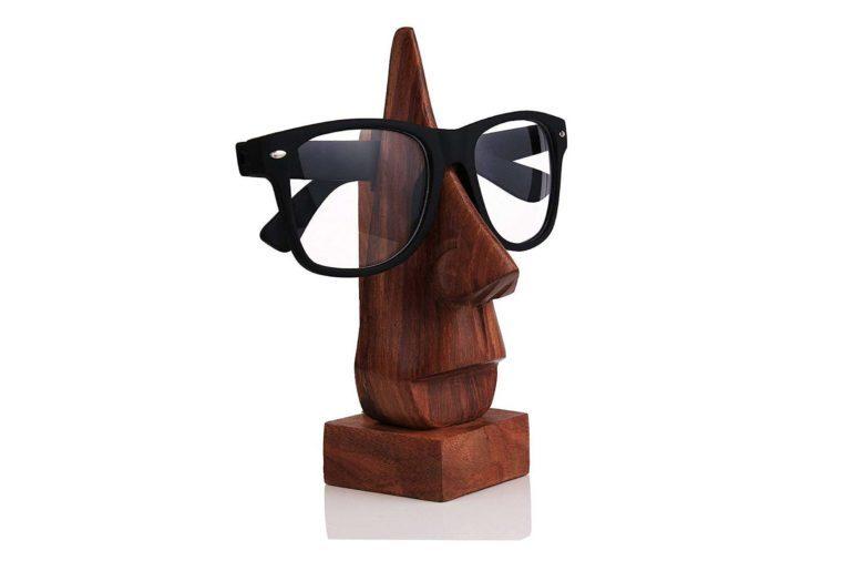 wooden glasses holder