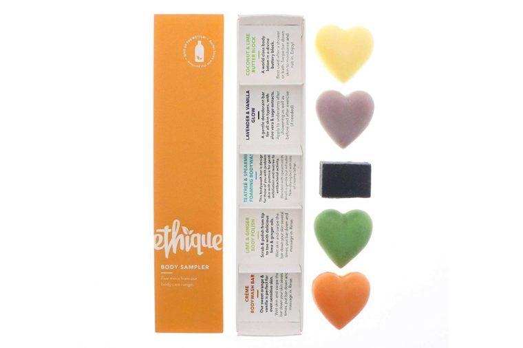 ethique eco friendly beauty bar sample set