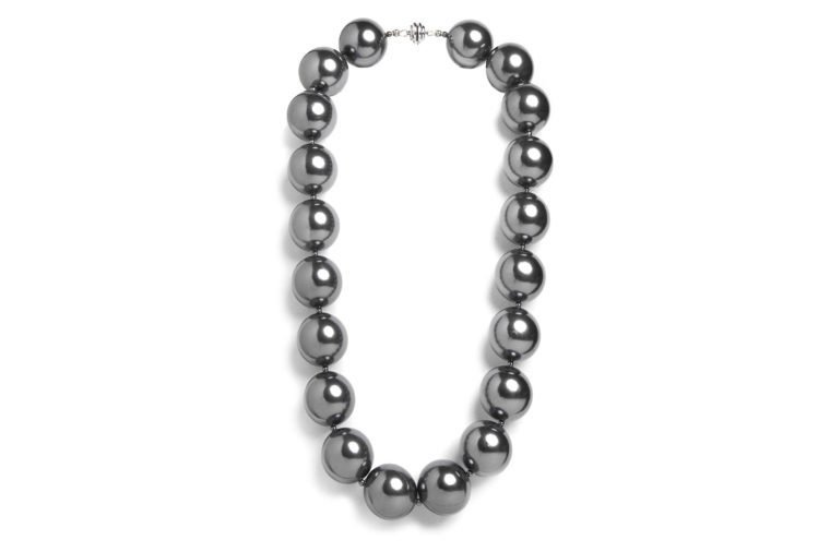 sterling grey pearl necklace