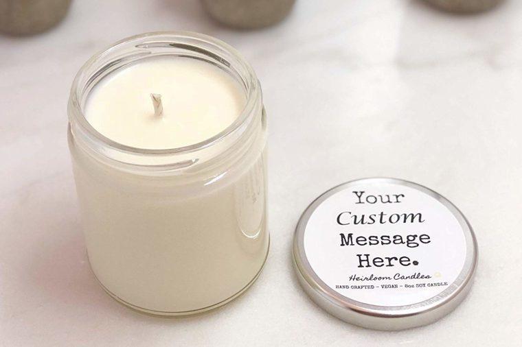 customized candle