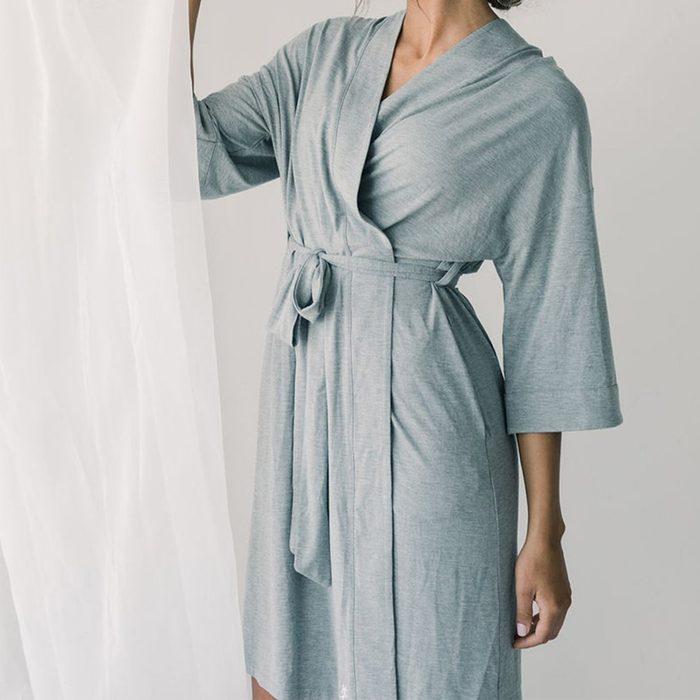 Cozy Earth Womens Stretch Knit Bamboo Kimono Robe