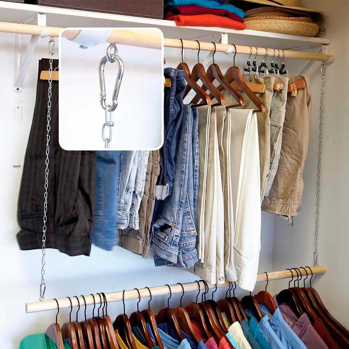 closet with double bars