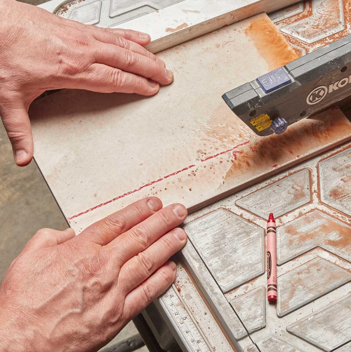 wet saw marking tip