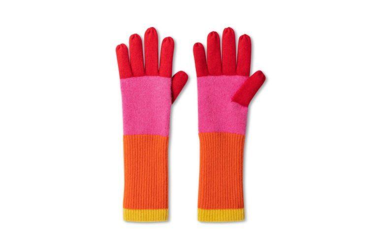 colorblock winter gloves