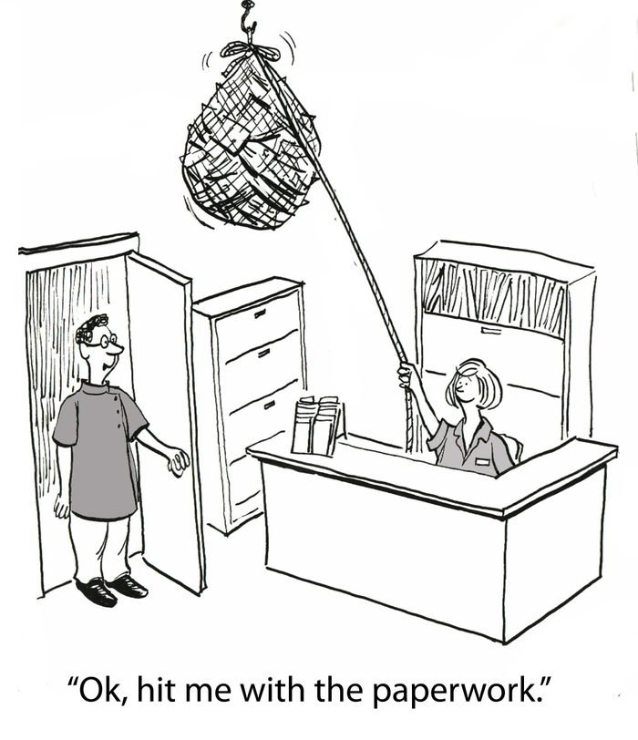 paperwork cartoon