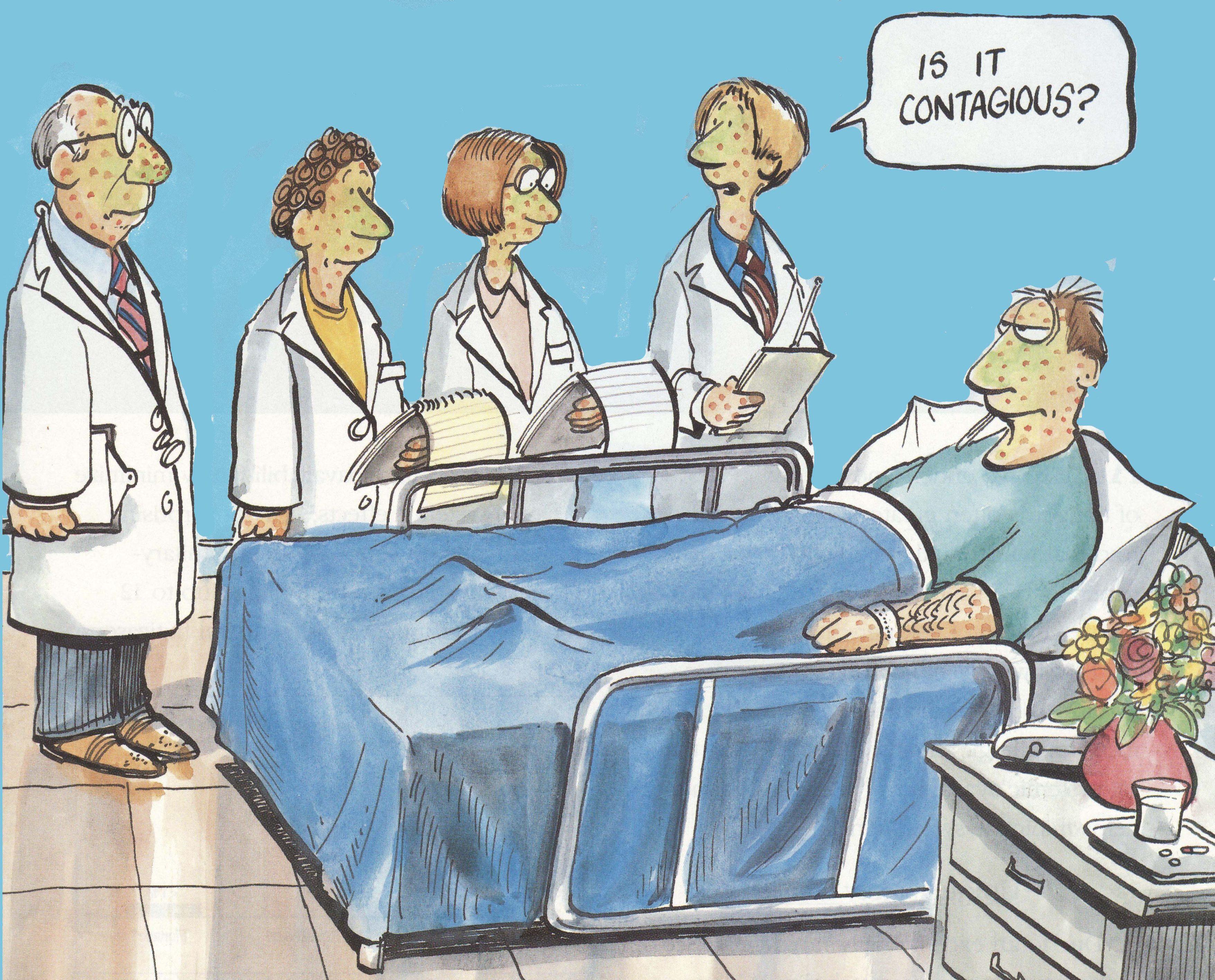 contagious medical cartoon
