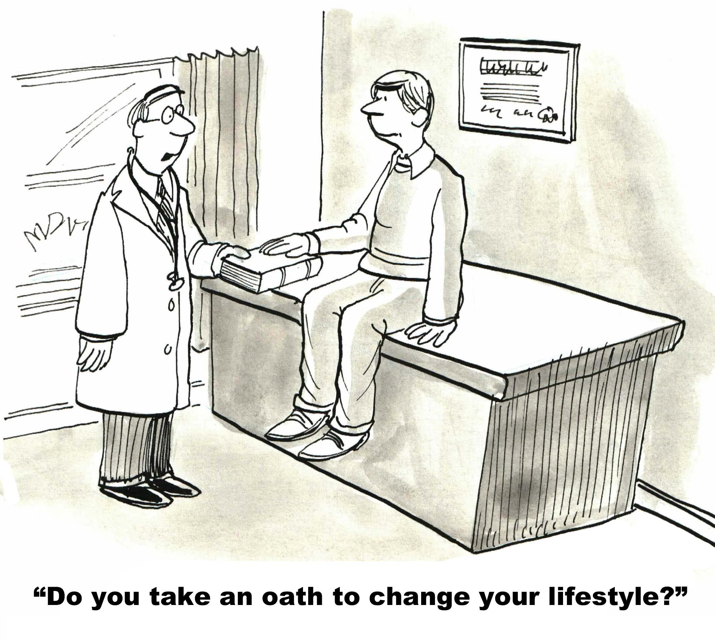 dieting oath cartoon