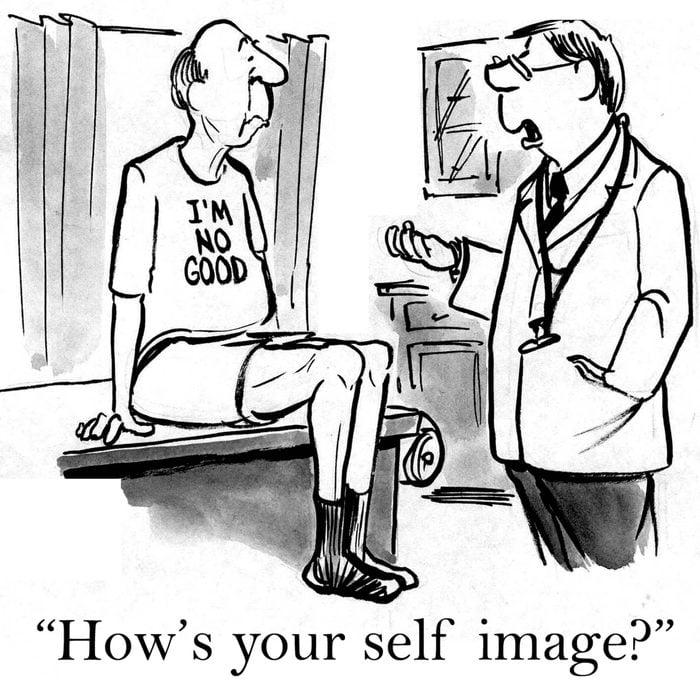 medical and mental health cartoon