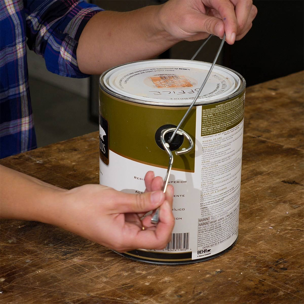 Paint Can Opener on Hand