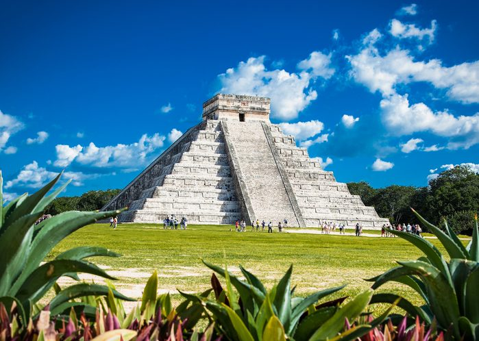 Chichen Itza, one of the most visited archaeological sites in Mexico. About 1.2 million tourists visit the ruins every year.