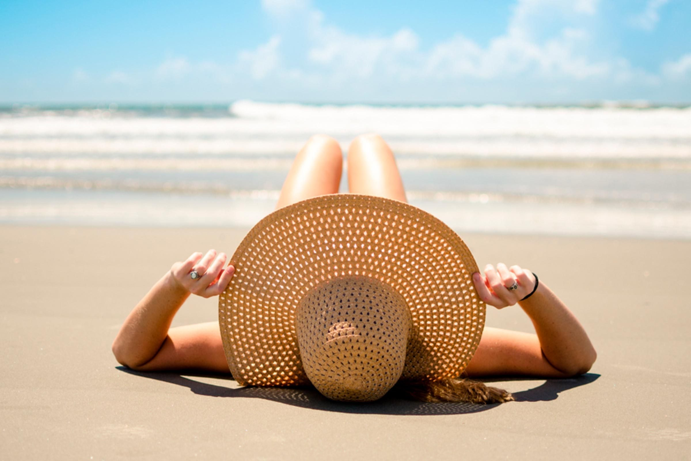 Laying on the beach