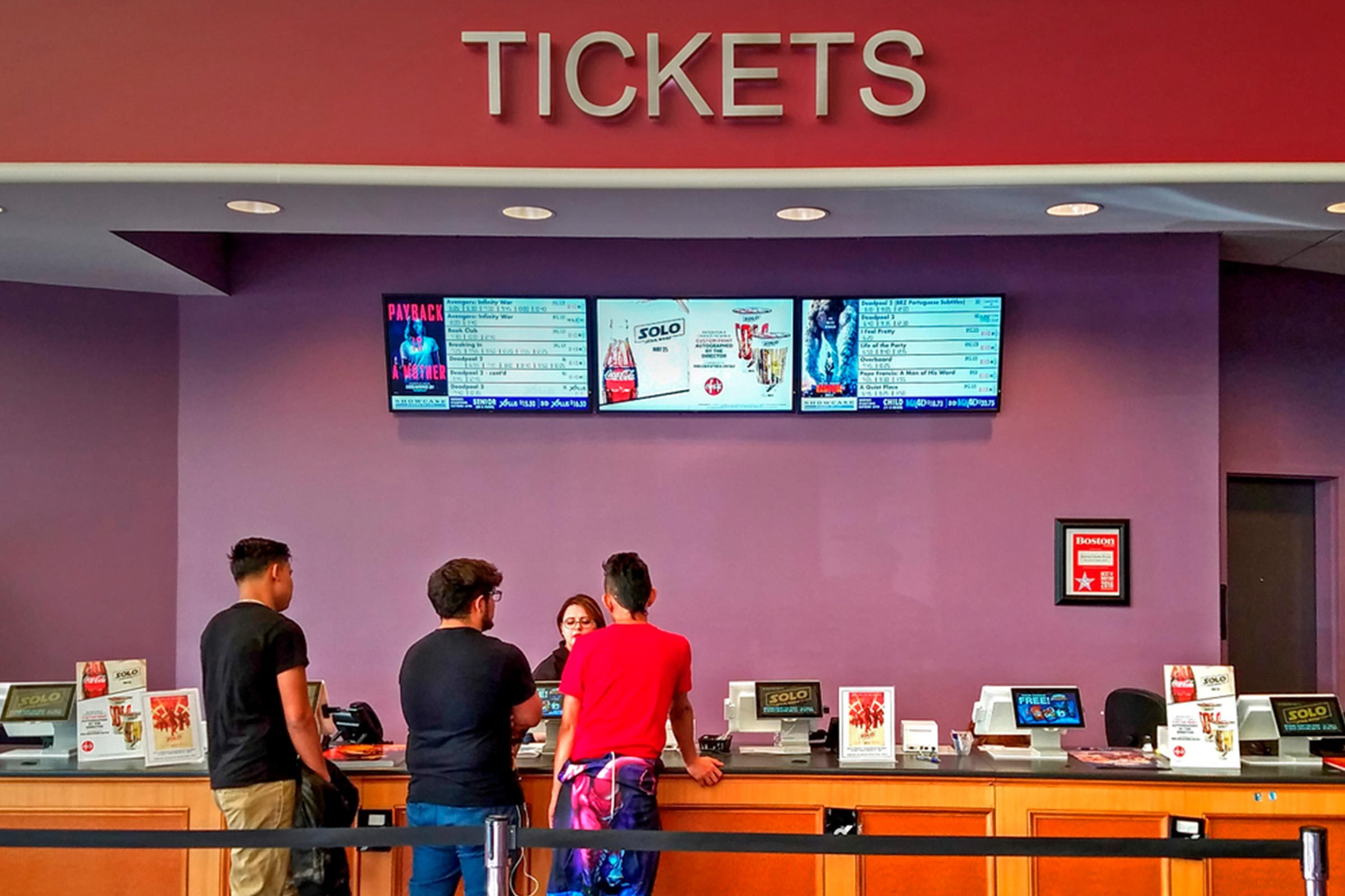 Movie theater tickets
