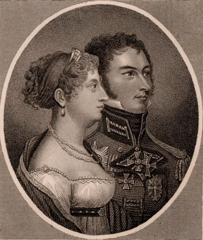 Princess Charlotte and Leopold of Saxe-Coburg