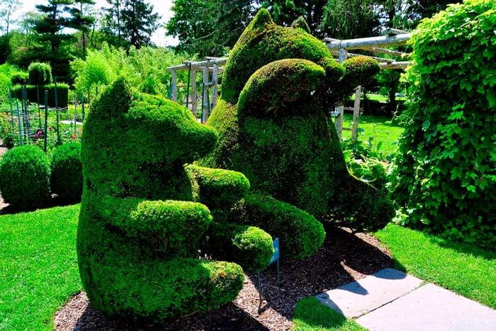 RI, Green animals topiary garden