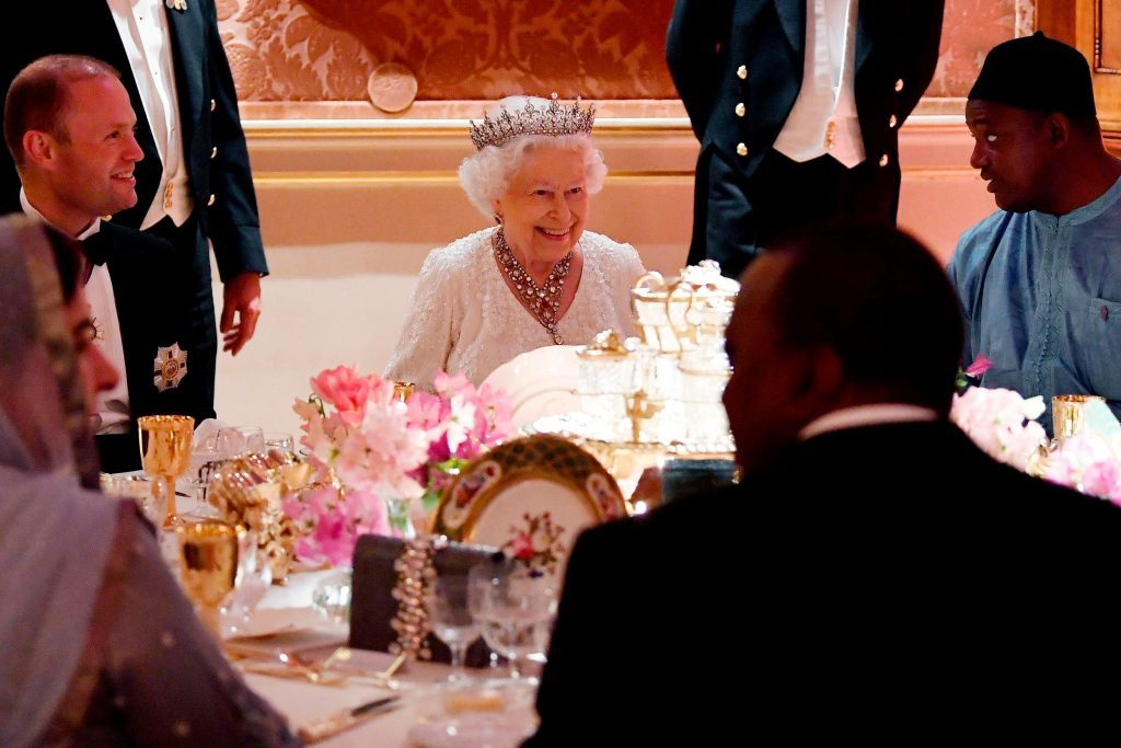 Queen Elizabeth at a state dinner