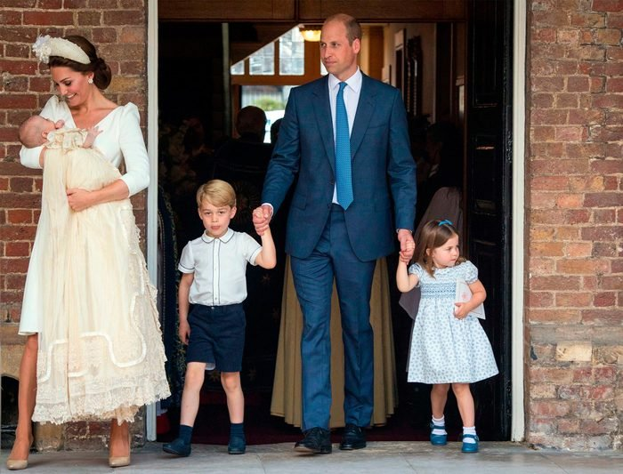 Prince William and Catherine of Cambridge and their children
