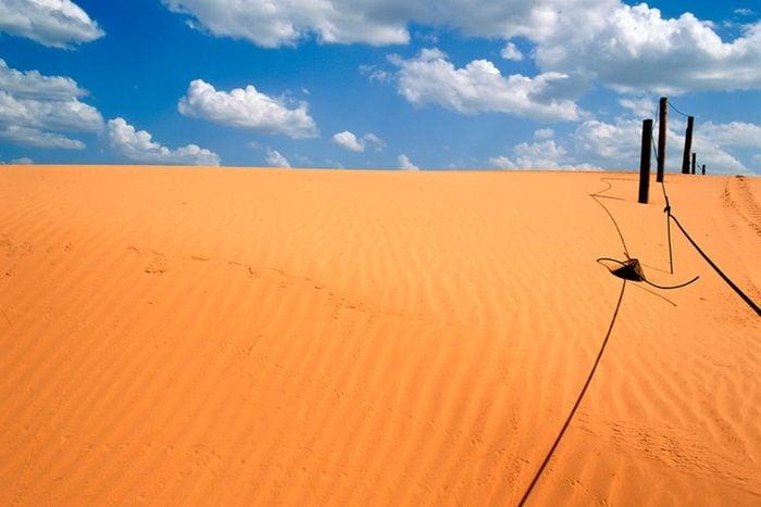 Sand dunes in Little Sahara SP, Waynoka, OK