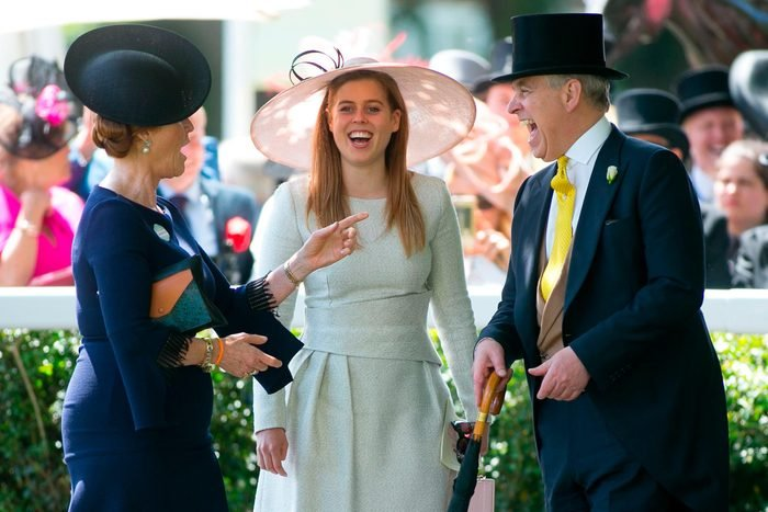 Sarah Ferguson, Princess Beatrice and Prince Andrew