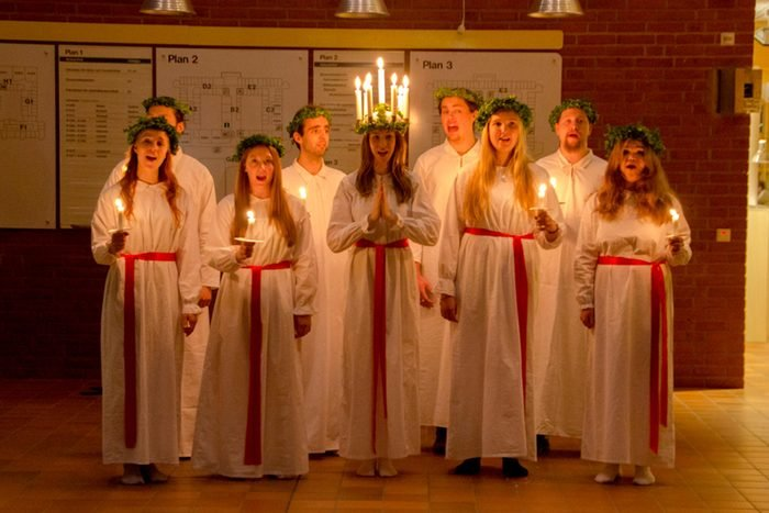 St. Lucia Day, Scandinavia
