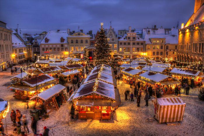 Tallinn town hall christmas