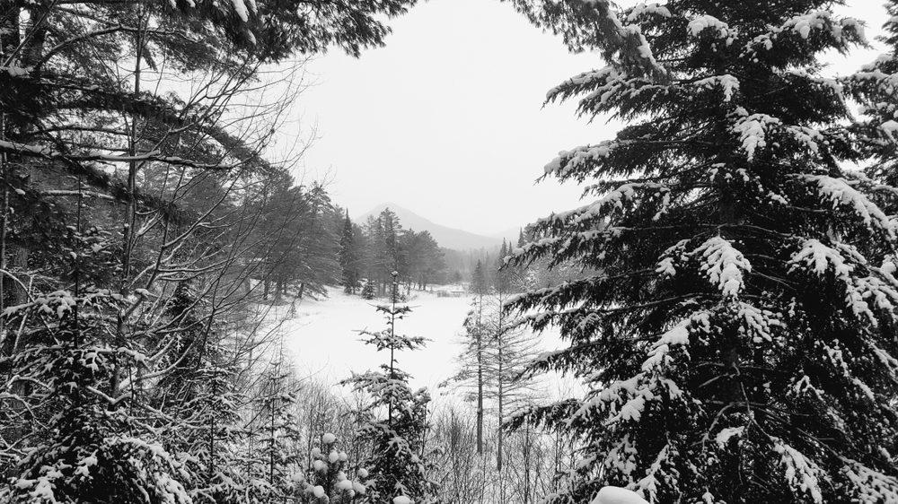 Winter snow Lake Saranac