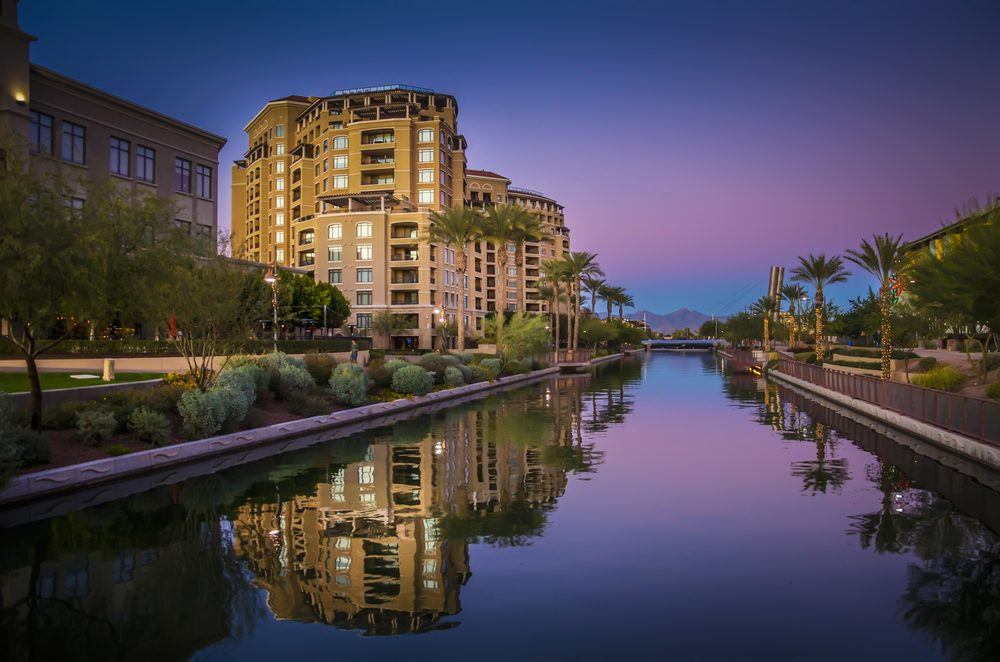 Canal running through, Scottsdale, Arizona,USA