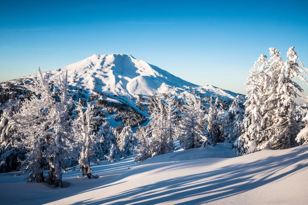A view of Mount Bachelor from Tumalo Mountain near Bend, Oregon